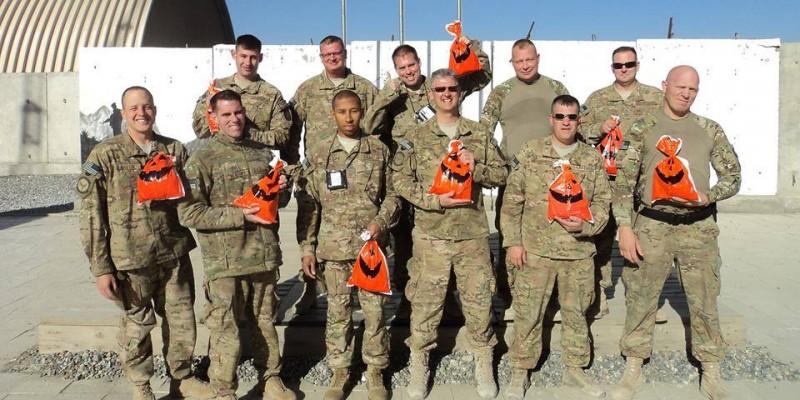 Troops Celebrating Holidays Overseas